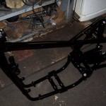 Frame back from painter